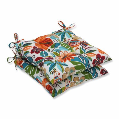 Guadaloue Fastene Outdoor Dining Chair Cushion Color: Jungle
