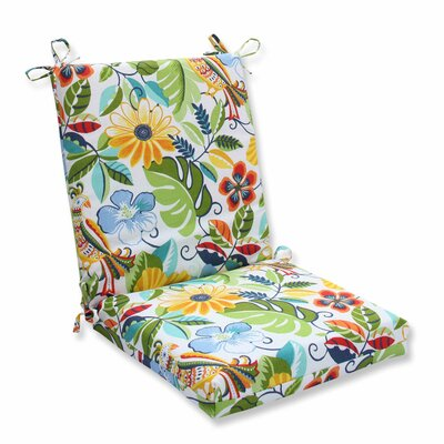 Guadaloue Indoor/Outdoor Dining Chair Cushion Color: Garden