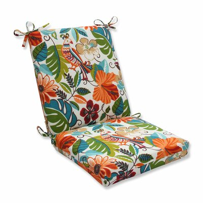 Guadaloue Indoor/Outdoor Dining Chair Cushion Color: Jungle