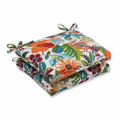 Guadaloue Outdoor Dining Chair Cushion Color: Jungle