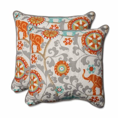 Hardy Indoor/Outdoor Throw Pillow Color: Cayenne