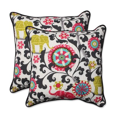 Hardy Outdoor Throw Pillow Color: Spectrum