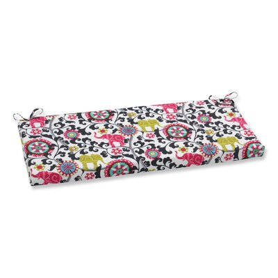 Menagerie Outdoor Bench Cushion Color: Spectrum