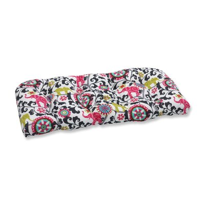 Menagerie Outdoor Loveseat Cushion Color: Spectrum