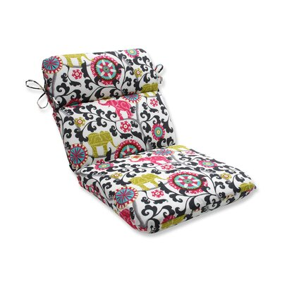 Menagerie Outdoor Dining Chair Cushion Color: Spectrum