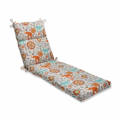 Menagerie Outdoor Chaise Lounge Cushion Color: Cayenne