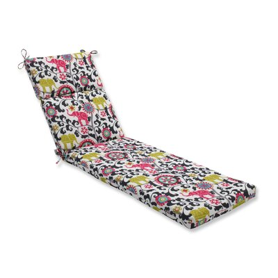 Menagerie Outdoor Chaise Lounge Cushion Color: Spectrum