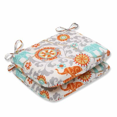 Menagerie Outdoor Dining Chair Cushion Color: Cayenne
