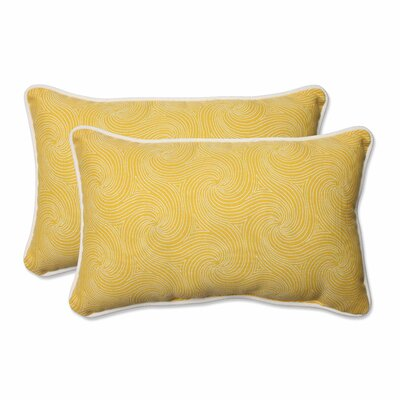 Nabil Outdoor Lumbar Pillow Color: Sunflower, Size: 11.5 H x 18.5 W