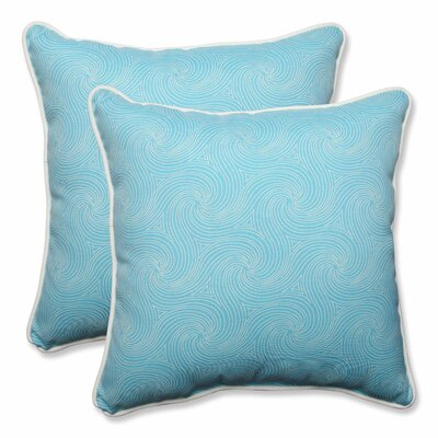 Nabil Outdoor/Indoor Throw Pillow Color: Caribbean