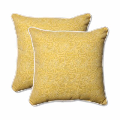 Nabil Outdoor/Indoor Throw Pillow Color: Sunflower