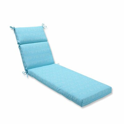 Nabil Outdoor Chaise Lounge Cushion Color: Caribbean