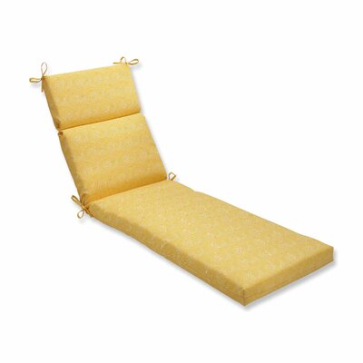 Nabil Outdoor Chaise Lounge Cushion Color: Sunflower