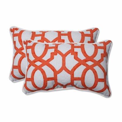 Bushey Indoor/Outdoor Lumbar Pillow Color: Mango, Size: 11.5