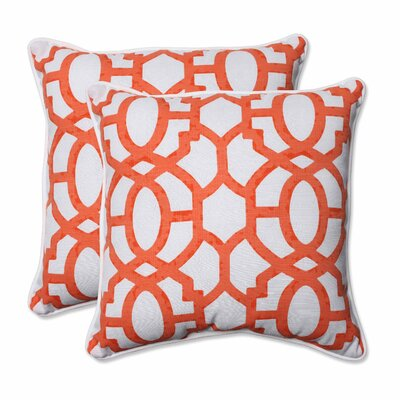 Nunu Geo Indoor/Outdoor Throw Pillow Color: Mango