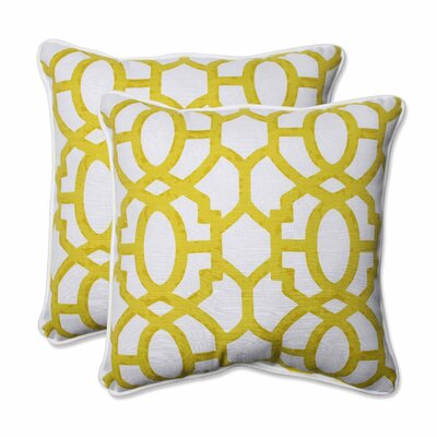 Nunu Geo Indoor/Outdoor Throw Pillow Color: Wasabi
