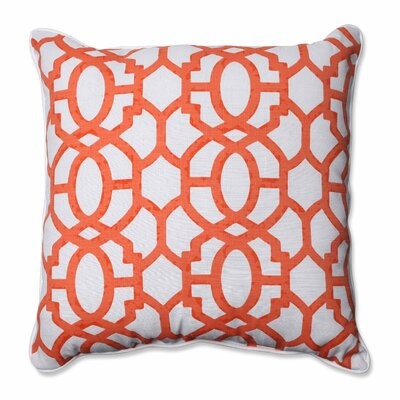 Nunu Geo Indoor/Outdoor Floor Pillow Color: Mango
