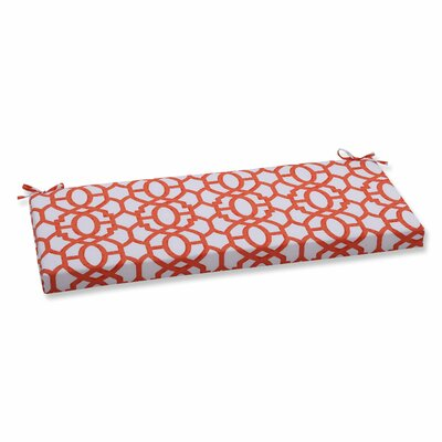 Nunu Geo Outdoor Bench Cushion Color: Mango