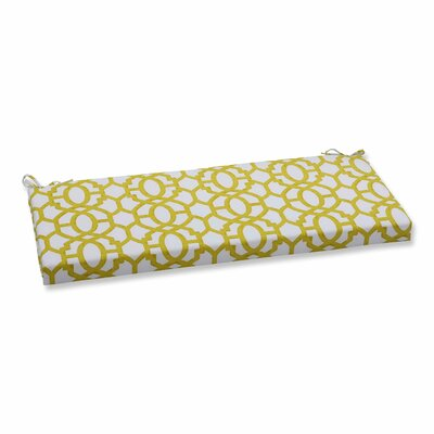 Nunu Geo Outdoor Bench Cushion Color: Wasabi