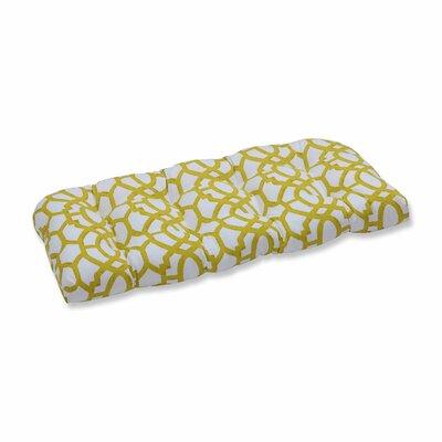 Nunu Geo Outdoor Loveseat Cushion Color: Wasabi