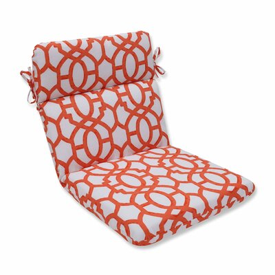 Nunu Geo Outdoor Dining Chair Cushion Color: Mango