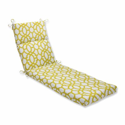 Nunu Geo Outdoor Chaise Lounge Cushion Color: Wasabi