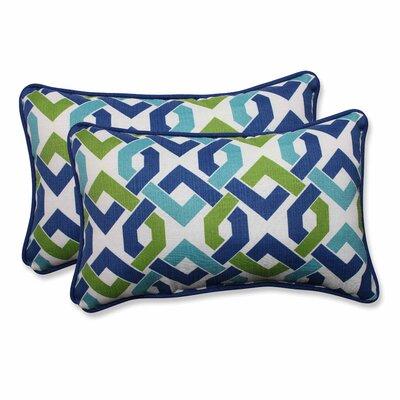 Reiser Indoor/Outdoor Lumbar Pillow Color: Lagoon, Size: 11.5 H x 18.5 W