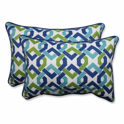 Grassmere Indoor/Outdoor Lumbar Pillow Color: Lagoon, Size: 16.5 H x 24.5 W