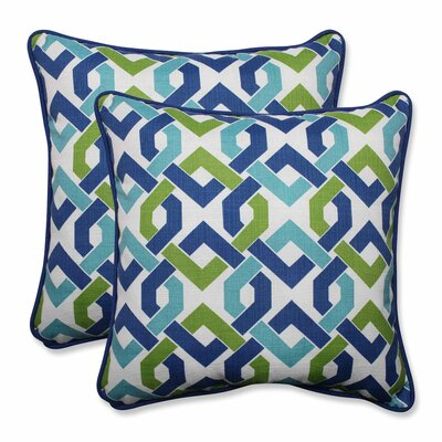 Reiser Indoor/Outdoor Throw Pillow Color: Lagoon