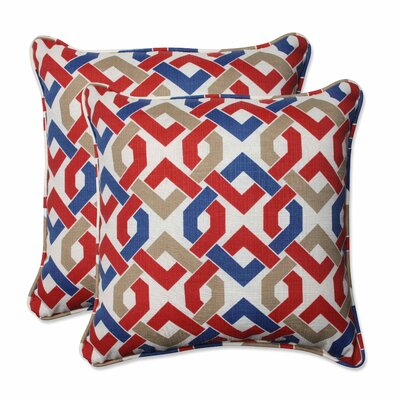 Reiser Indoor/Outdoor Throw Pillow Color: Patriot