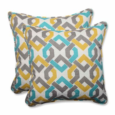 Reiser Indoor/Outdoor Throw Pillow Color: Sterling