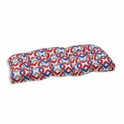 Reiser Outdoor Love Seat Cushion Color: Patriot