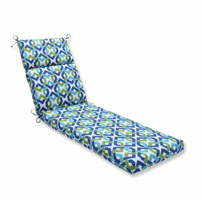 Reiser Outdoor Chaise Lounge Cushion Color: Lagoon