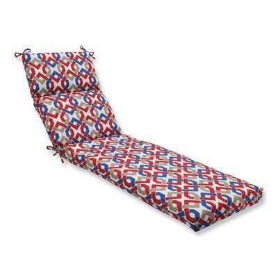 Reiser Outdoor Chaise Lounge Cushion Color: Patriot