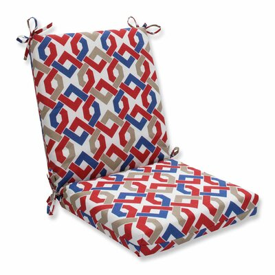 Reiser Outdoor Dining Chair Cushion Color: Patriot