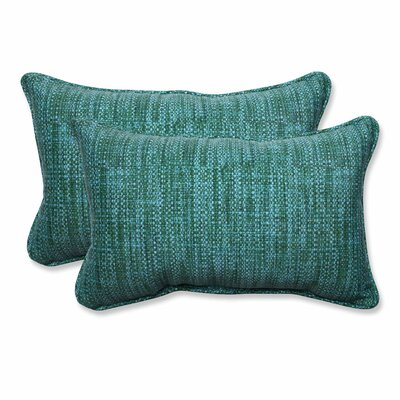 Vanderburg Outdoor Lumbar Pillow Color: Lagoon, Size: 11.5 H x 18.5 W