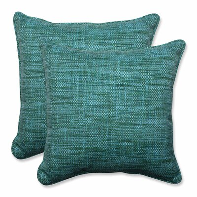 Remi Outdoor Throw Pillow Color: Lagoon