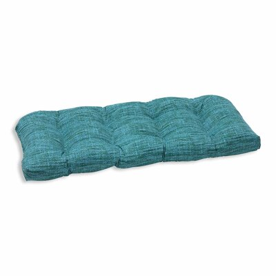Remi Outdoor Love Seat Cushion Color: Lagoon