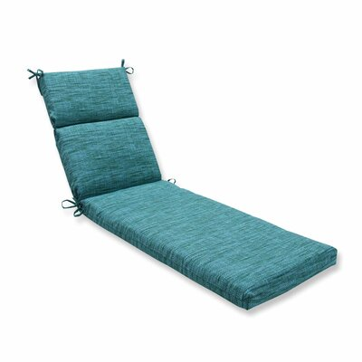 Remi Outdoor Chaise Lounge Cushion Color: Lagoon
