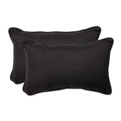 Tweed Indoor/Outdoor Lumbar Pillow Color: Black, Size: 11.5 H x 18.5 W