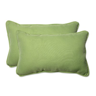 Tweed Outdoor Lumbar Pillow Color: Lime, Size: 11.5 H x 18.5 W