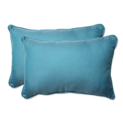Grendon Outdoor Lumbar Pillow Color: Aqua, Size: 16.5 H x 24.5 W