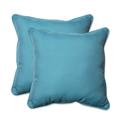 Tweed Indoor/Outdoor Throw Pillow Color: Aqua