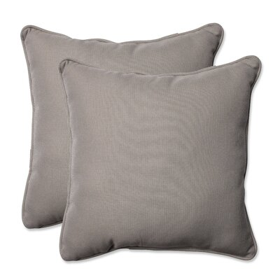 Tweed Indoor/Outdoor Throw Pillow Color: Gray