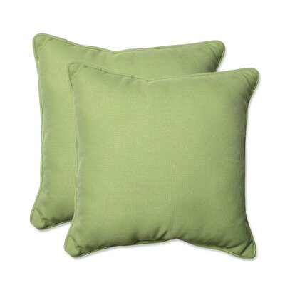 Tweed Indoor/Outdoor Throw Pillow Color: Lime