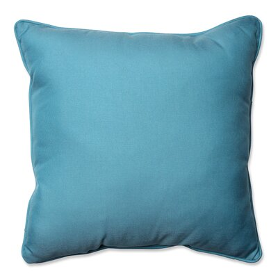 Tweed Indoor/Outdoor Floor Pillow Color: Aqua