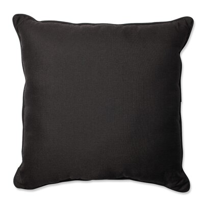 Tweed Indoor/Outdoor Floor Pillow Color: Black
