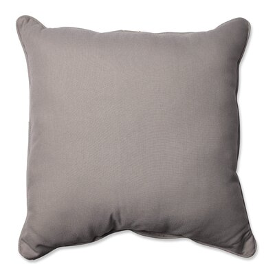 Tweed Indoor/Outdoor Floor Pillow Color: Gray