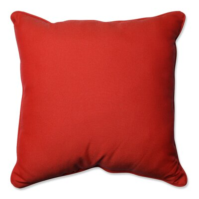 Tweed Indoor/Outdoor Floor Pillow Color: Red