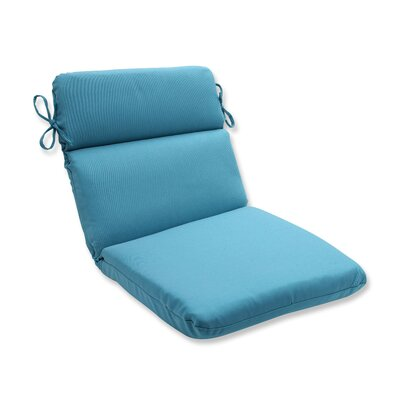 Tweed Outdoor Dining Chair Cushion Color: Aqua